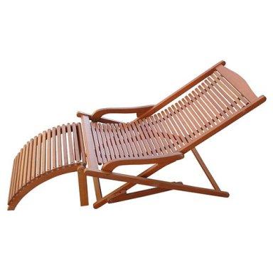 Surprising Teak Oiled Patio Outdoor Garden Lounge Chair Cjindustries Chair Design For Home Cjindustriesco