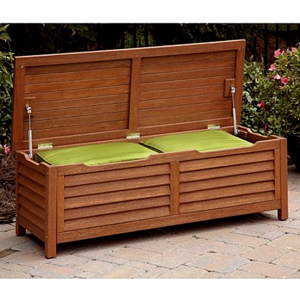 Eucalyptus Outdoor Deck Storage Box Coffee Table