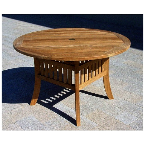 Teak 48 Inch Commercial Grade Round Patio Dining Table