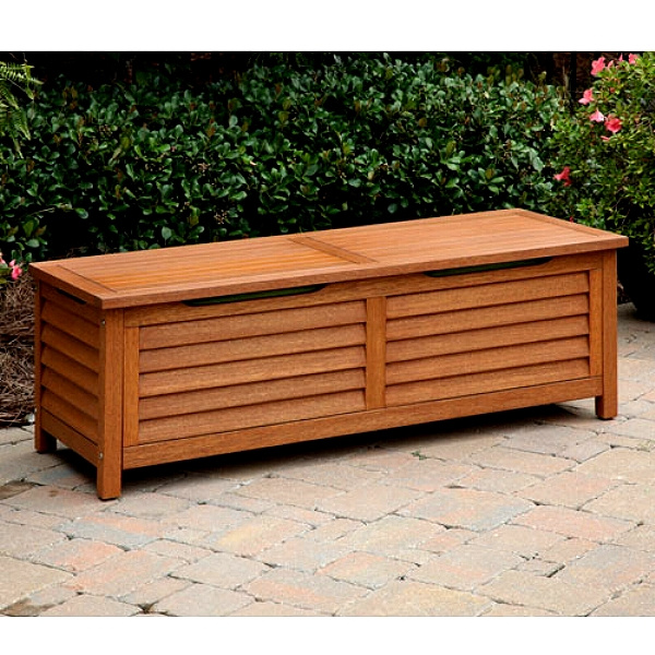 Eucalyptus Outdoor Deck Storage Box